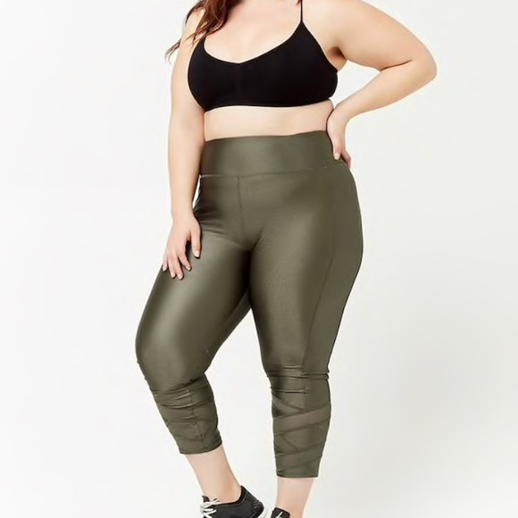 7584041273d378 Forever 21 Pants | Plus Size Active Mesh Panel Capri Leggings | Poshmark